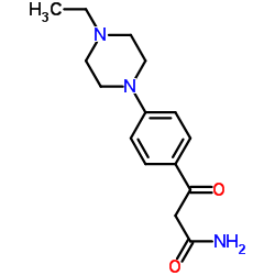 3-[4-(4-Ethyl-1-piperazinyl)phenyl]-3-oxopropanamide
