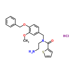 2-Thiophenecarboxamide,N-(2-aminoethyl)-N-[[3-methoxy-4-(phenylmethoxy)phenyl]methyl]-,monohydrochloride
