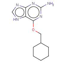 2-amino-6-[(cyclohexylmethyl)oxy]purine