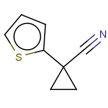 1-(thiophen-2-yl)cyclopropanecarbonitrile