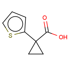1-(thien-2-yl)cyclopropanecarboxylic acid
