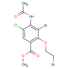 methyl 4-acetamido-3-bromo-2-(2-bromoethoxy)-5-chlorobenzoate
