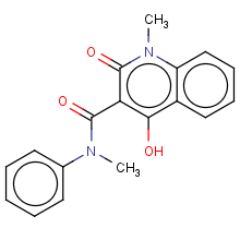 N-phenyl-N-methyl-1,2-dihydro-4-hydroxy-1-methyl-2-oxo-quinoline-3-carboxamide